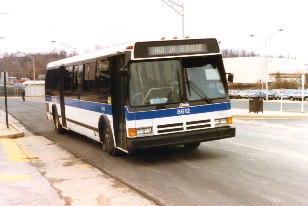 Baltimore Mta Flxible Metro 8612 This Was Training Bus