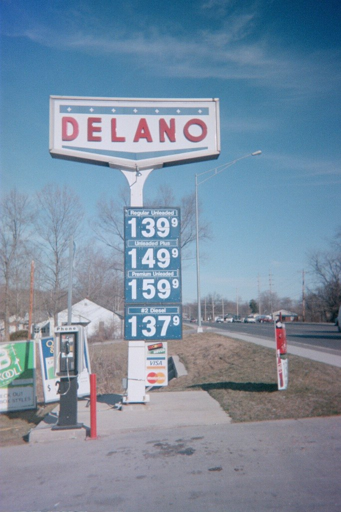68 Rt Charger: Delano Gas Sign Along Route 68 St James, Missouri
