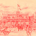 Disneyland Red Wagon Inn Illustration, 1955