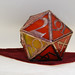 """Stained Glass d20 """"Fire"""""""