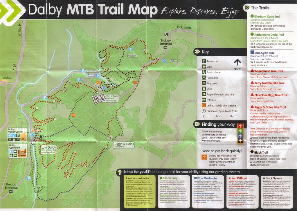 Dalby Forest Mountain Bike Trail Map  Run Bike Sleep  Flickr