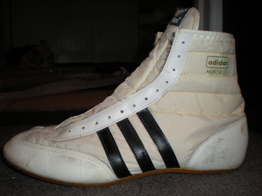 GONE GONE GONE Adidas Hercules-White/Black | Used - 10