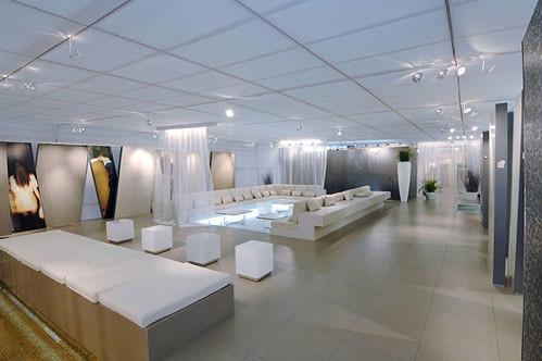 Modern showroom showroom modern showroom futuristic show flickr for Modern showroom exterior design