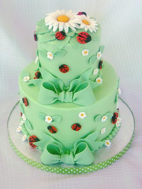 ... Ladybug Baby Shower Cake | By Springlakecake