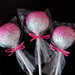 pink sparkle sugar pops with matching ribbon