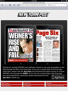 NY Post on iPad only via app (!) | by scriptingnews