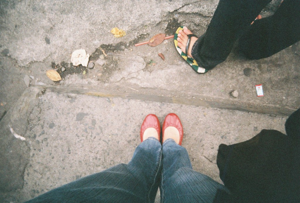 Wide Gold Flat Dress Shoes