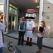 Cincinnati Reds mascot with fans