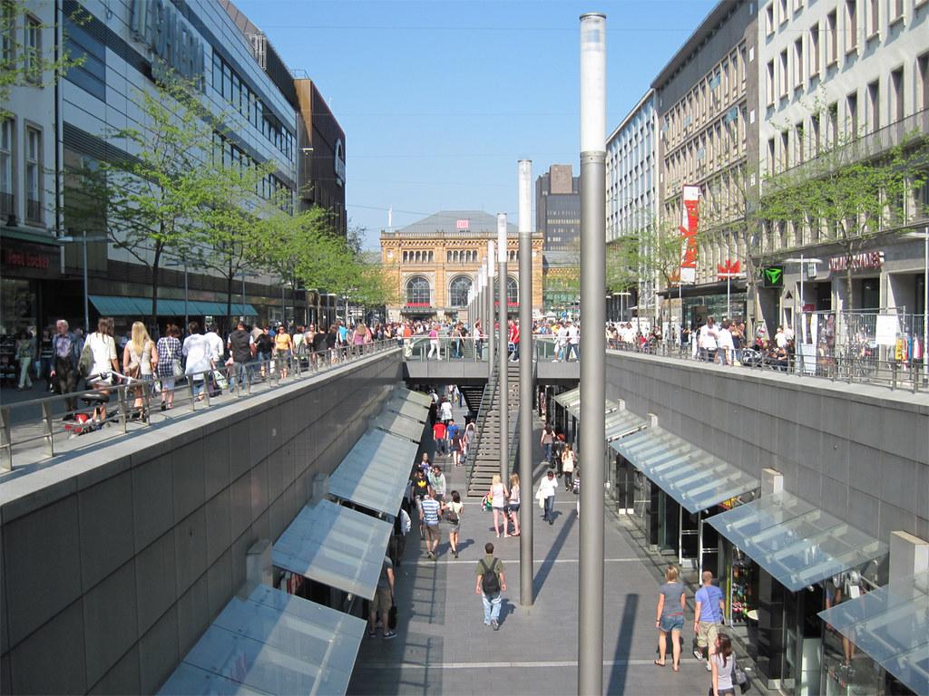 Hannover Shopping Street Shopping Auf Zwei Etagen