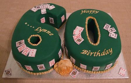 60th Birthday Bridge Cake  60th Birthday Cake for a Bridge ...
