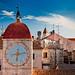 Croatia - Trogir: Tower Clock