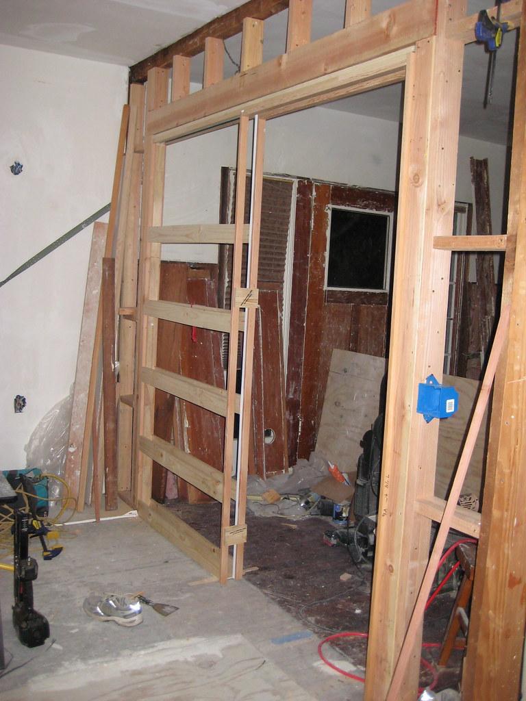 Pocket Door Frame Installation : Pocket door frame installed jcdeck flickr