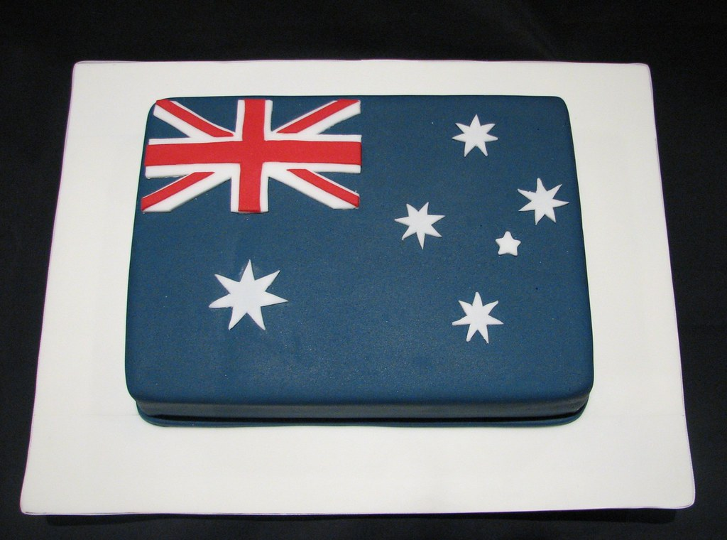 Australian Flag Cake Made For Australia Day Liz