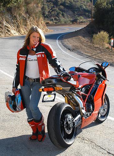 Ducati Streetfighter Girl