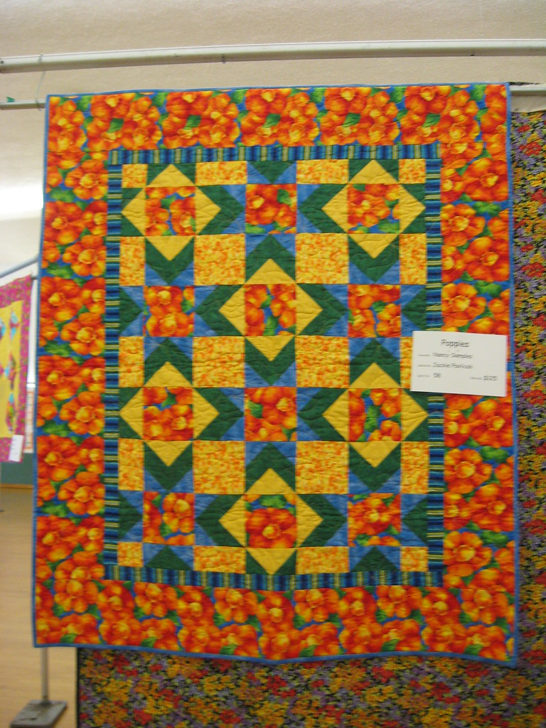 Quot Poppies Quot Quilt Quot Poppies Quot Quilt Pieced By Nancy Samples