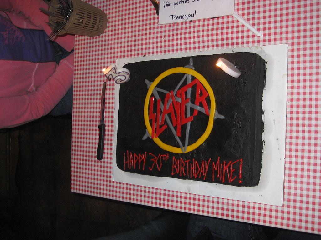 Slayer Cake At Mikes Birthday Party Courtneyleighdenney Flickr - Slayer birthday cake