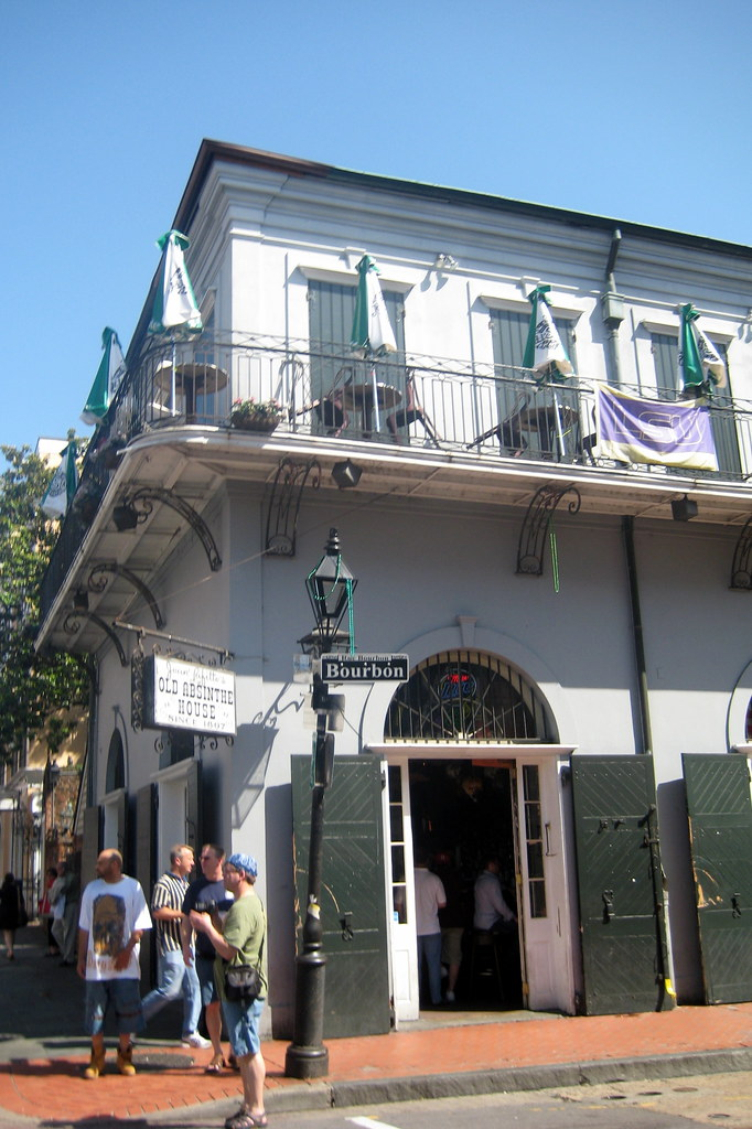 New Orleans French Quarter Old Absinthe House The Flickr