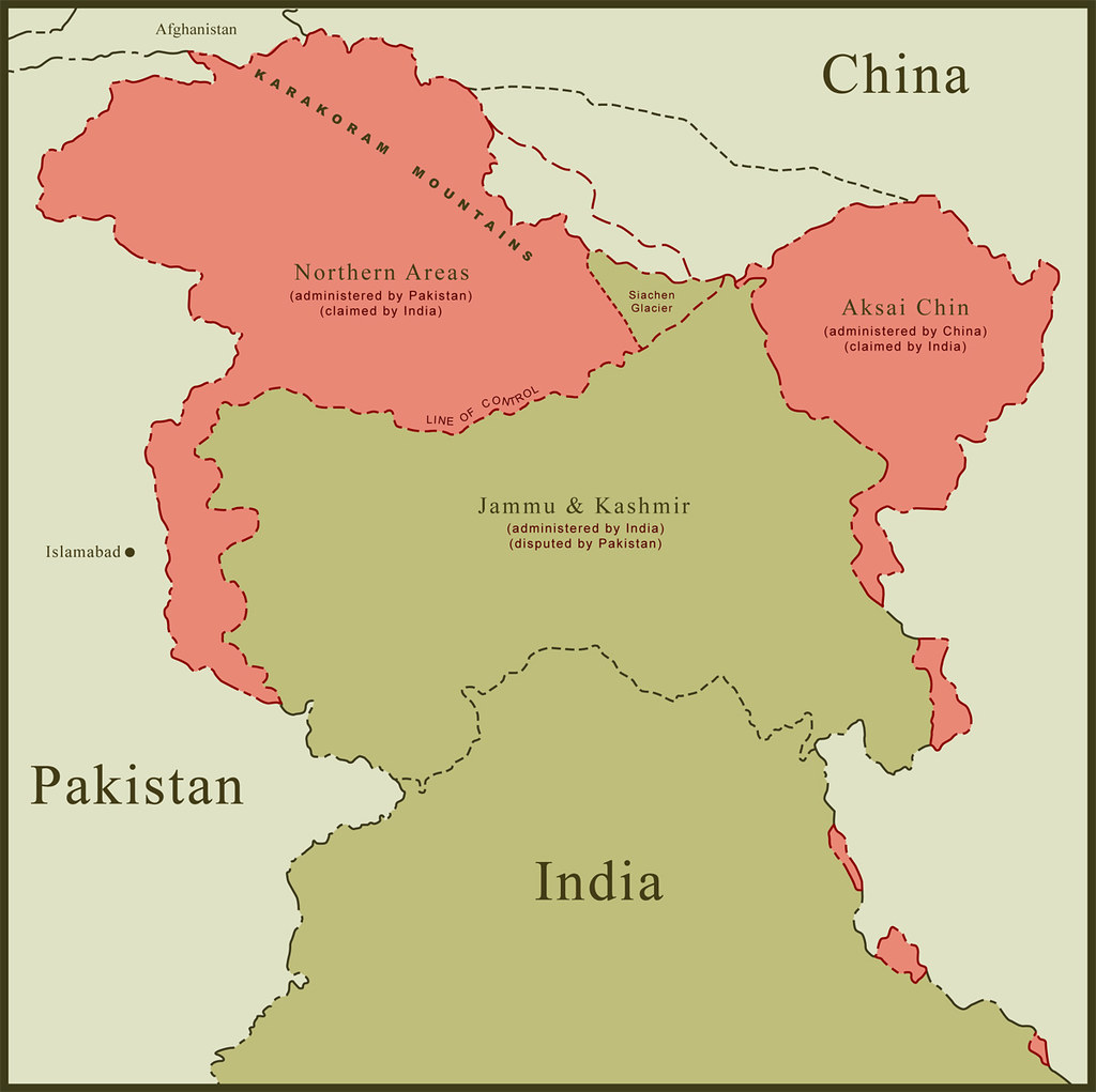 Map of kashmir border disputes this is a map of kashmir re flickr gumiabroncs Gallery