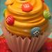 m&m giant cupcake