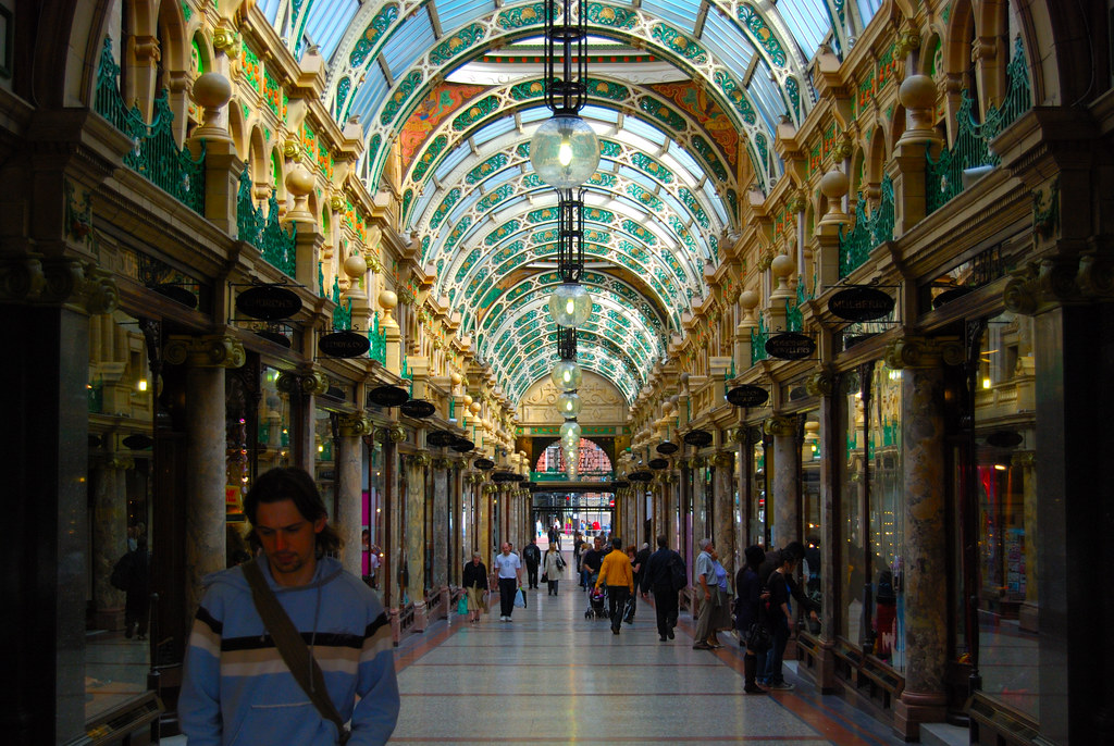 Stained Glass Ceiling At Leeds Shopping Centre Fleur