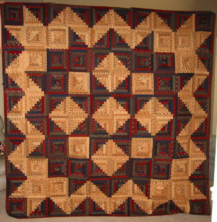 Log Cabin Quilt Pattern Free Queen Size : Log Cabin Star Quilt My first queen sized quilt! Made with? Flickr