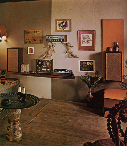 Stereo wall 70s living room what 39 s with the ketchup for Interior design 70s house