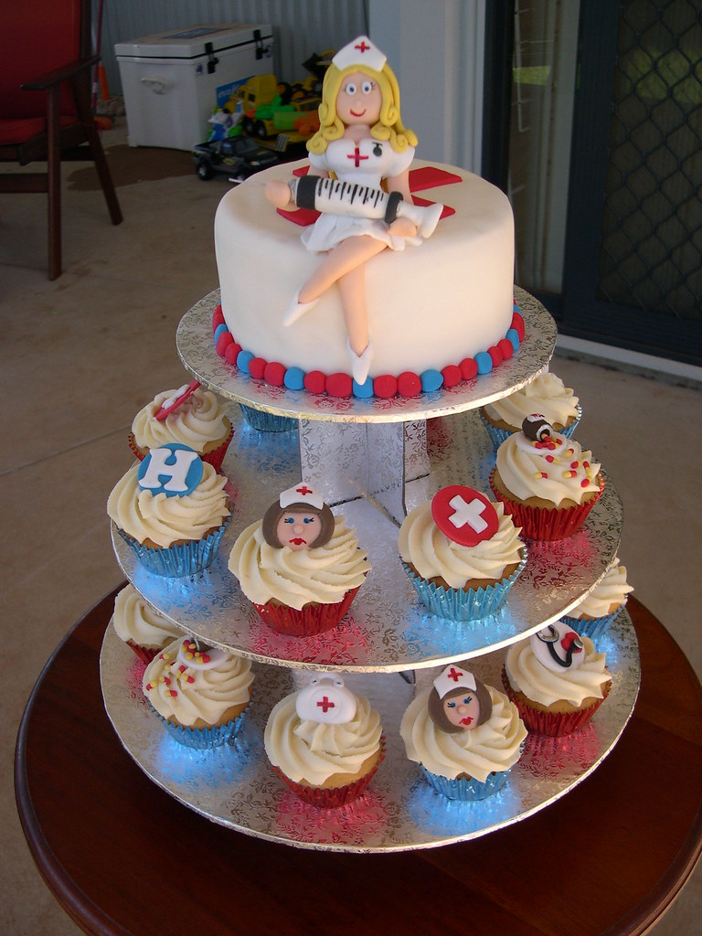 Naughty Nurse Cake Cupcakes Toppers Can Be Ordered