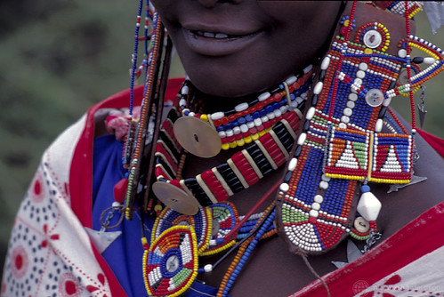 A woman wear traditional bead work jewelry | by World Bank Photo Collection
