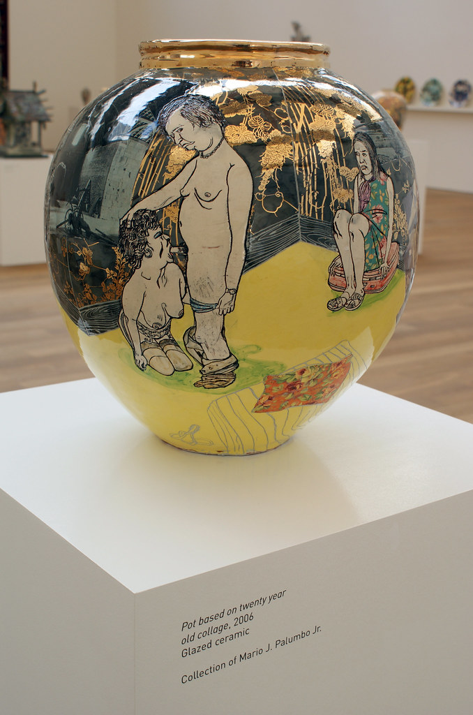 Grayson Perry Pot Based On Twenty Year Old Collage 2006