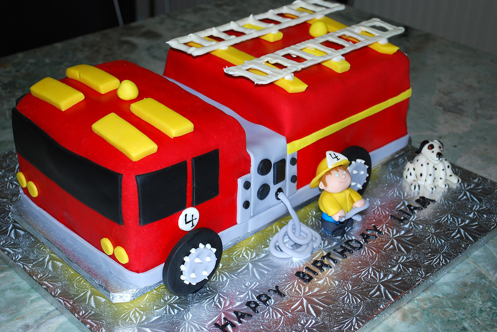 Entire Fire Engine Cake For Liam His