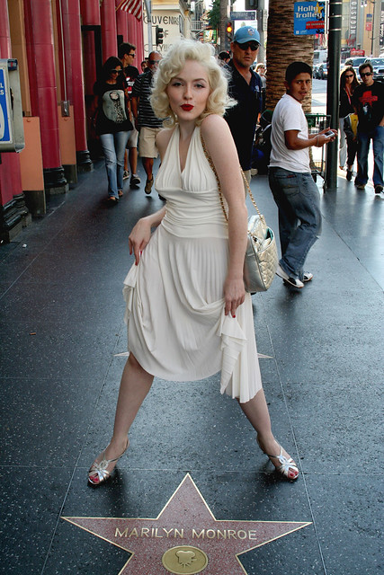 image Marilyn monroe lookalike in white dress