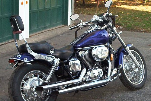 2003 WITH GOST FLAMES Honda Shadow Spirit 750 by WILDSIDE1