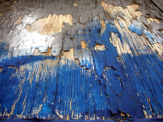 Blue Peeling Plywood | by T.L.A.