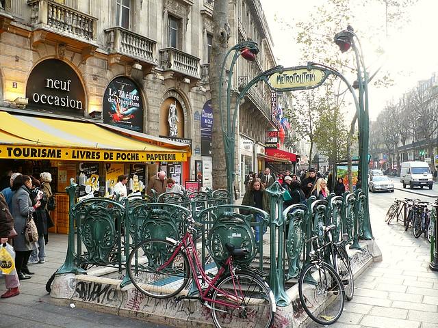Metro station entrance place saint michel paris flickr - Saint michel paris metro ...