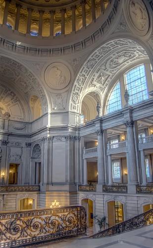 San Francisco Inside City Hall Hdr Flickr Photo Sharing