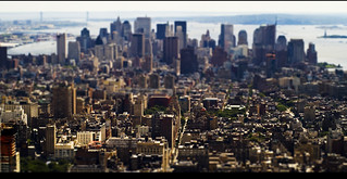 Manhattan desde el Empire State in Tilt Shift | by davic
