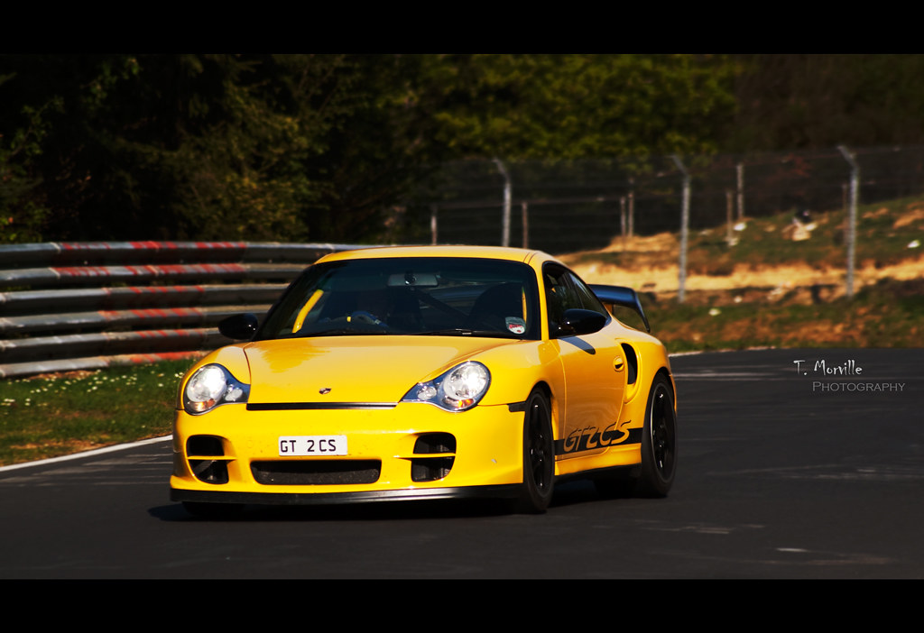 yellow storm porsche 996 gt2 cs nurburgring nordschl flickr. Black Bedroom Furniture Sets. Home Design Ideas