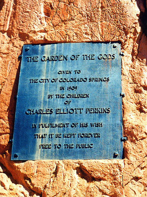 Garden Of The Gods Plaque Colorado Springs The Plaque Com Flickr