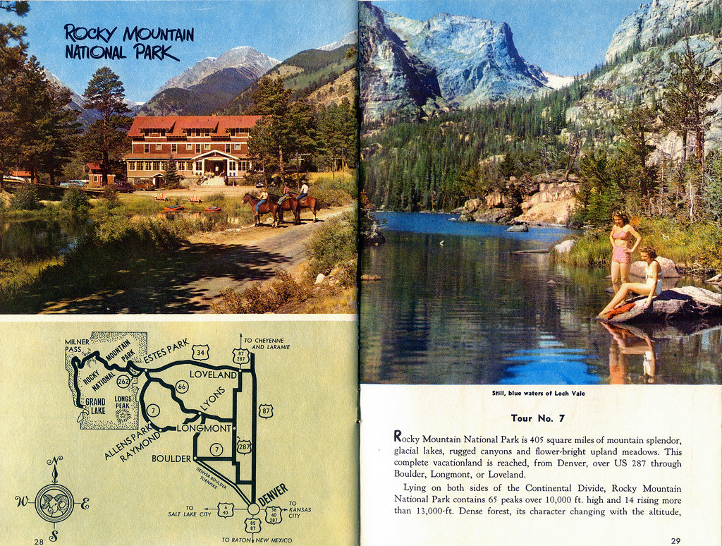 Rocky Mountain Np Page Colorado Tourism Brochure C 1956