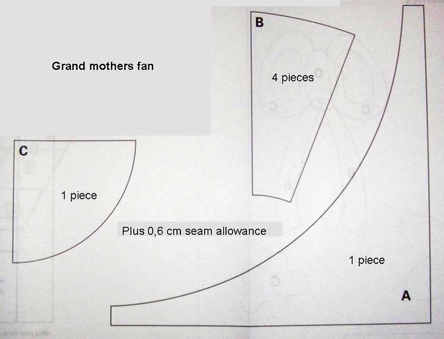 Grandmothers Fan Pattern Templates B And C As Well As