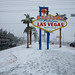 Snowy Welcome to Las Vegas Sign