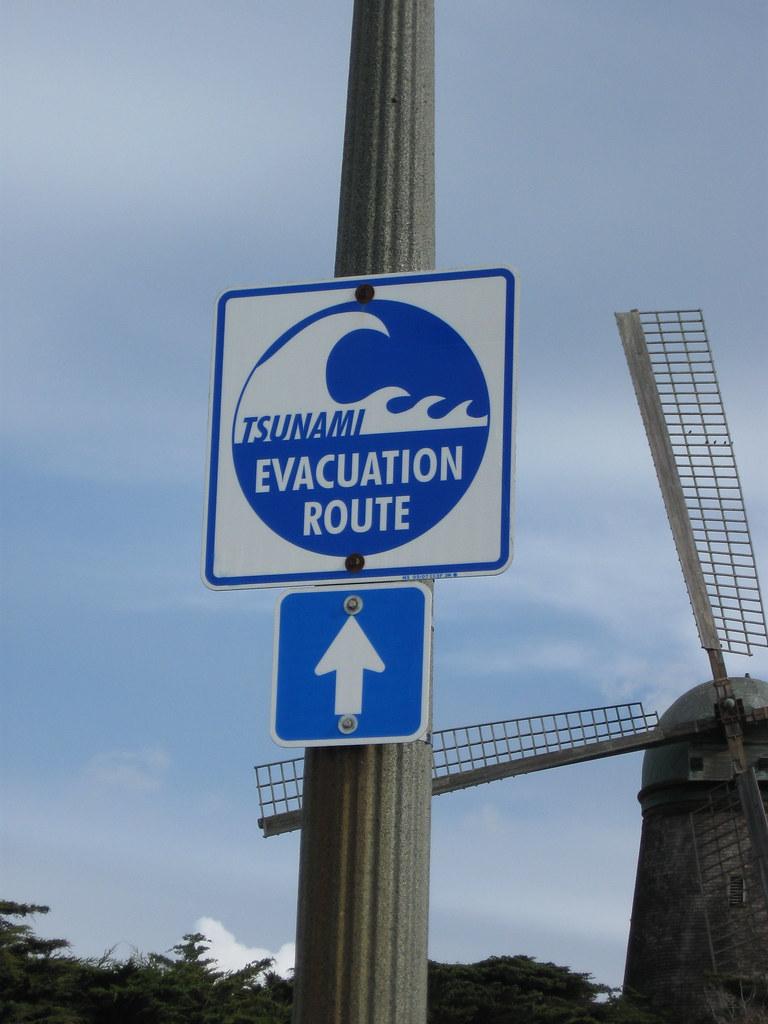 tsunami evacuation route sign mel flickr