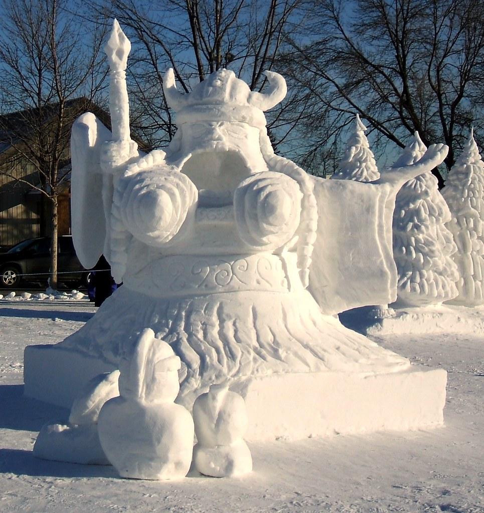 Winter Carnival Snow Sculptures Er Viking Opera