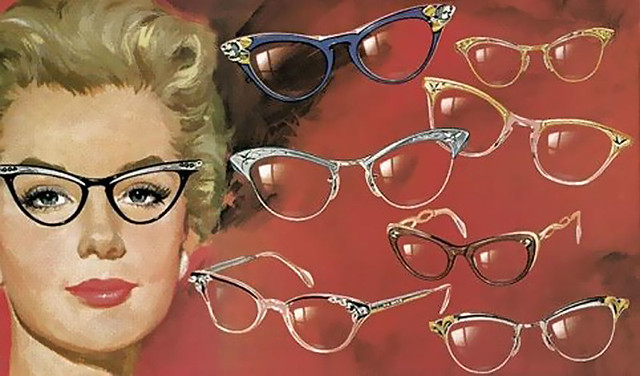Retro Cat Eye Twin Beam Sunglasses