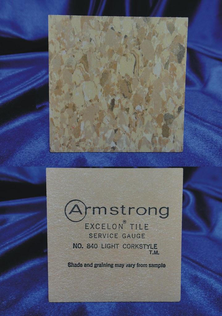 Armstrong Excelon Vinyl Asbestos Floor Tile Sample 840