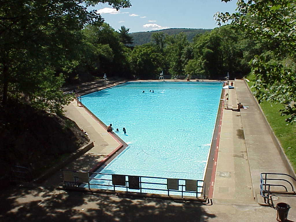 Bear Mountain Pool On The Side Of The Hudson One Time