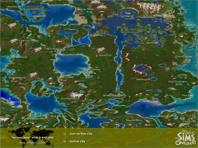 The sims online world map pixelation nation flickr the sims online world map by pixelation nation gumiabroncs Choice Image