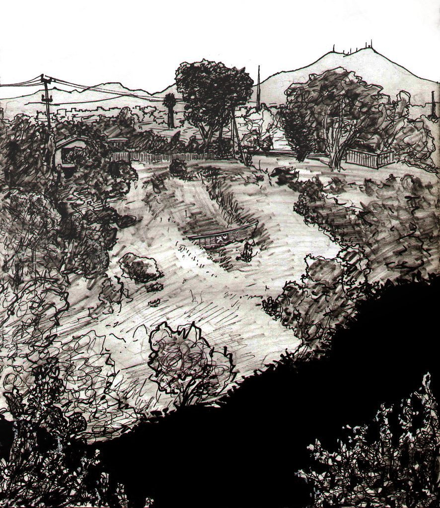 san diego canyon drawing 12 25 8 | Sketch of the canyon ...