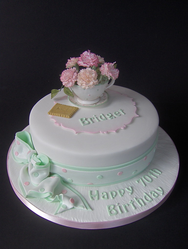 Quot Coffee Morning Quot 70th Birthday Cake Here Is The Finished