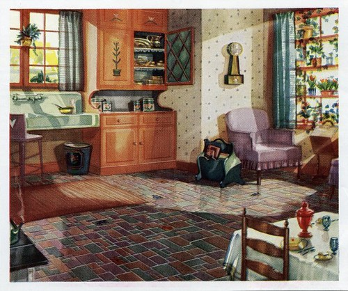 1930 kitchen 1930s kitchen in a linoleum ad daily for 1930 house interior